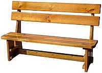 Скамейка деревянная со спинкой. Л-008-1, фото 1