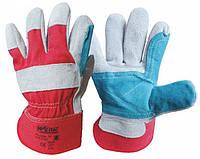 Werk WE2130 Перчатки комбинированные кожа + ткань