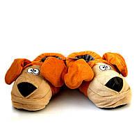"Теплые тапочки-игрушки ""Собачки"" (Пёс), оранжевый"
