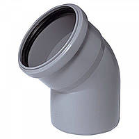 Колено для канализации 110 мм 45 градусов Инсталпласт-ХВ