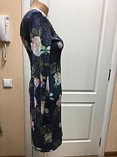 Новинка женское  платье роза дл. рукав, деловое офисное нарядное серое синее, фото 2