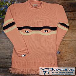 Вязанная туника для девочек Размеры: 5-6,7-8,9-10 лет (5825-1)