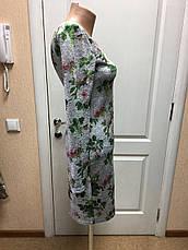 Новинка женское  платье роза дл. рукав, деловое офисное нарядное серое синее, фото 3