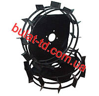 Колеса с грунтозацепами Ø 560мм (профильная труба 15х15,ширина 130мм-160мм, вес 14кг/пара)