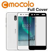 Защитное стекло Mocolo Full сover для Nokia 2 черный