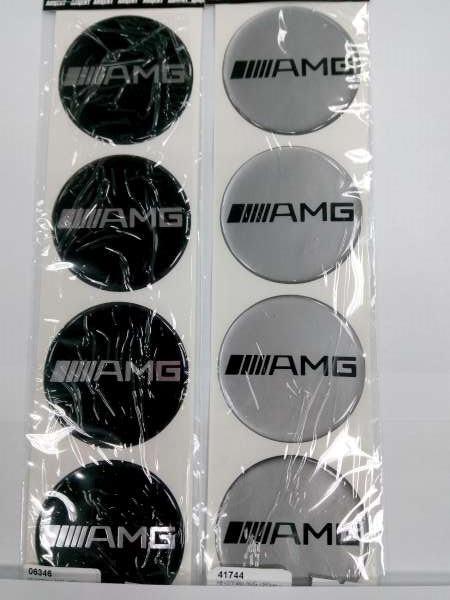 Силиконовые 3D наклейки на диски и колпаки AMG