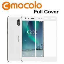 Защитное стекло Mocolo Full сover для Nokia 2 белый
