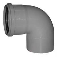 Колено Для канализации 110 мм 90 градусов Инсталпласт-ХВ