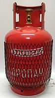 Безопасный металлический пропановый баллон Safegas 12л.