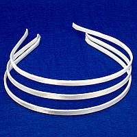 Обруч для волос обтянутый тканью (ширина обруча 6мм). Цвет - белый
