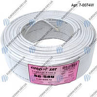 Коаксиальный кабель RG-58U/64CCa EUROSAT белый 100м