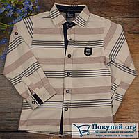 Рубашка детская длинный рукав Размеры: 5,6,7,8 лет (5832)