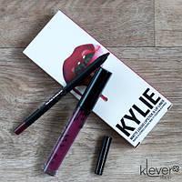 Губная помада и карандаш Kylie SPICE (стойкая матовая помада и карандаш Кайли)