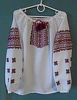 Вишиванка  для дівчинки 7-8 років на білому домотканому полотні