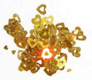 Конфетти сердечки золото