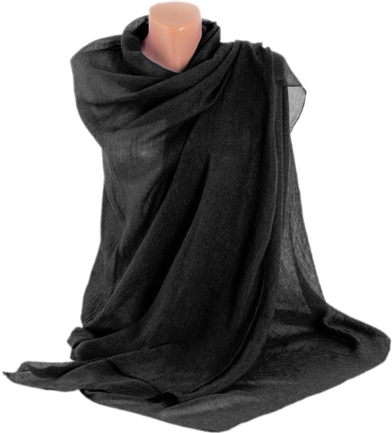 Женская шаль-парео, хлопок, 175х90 см, Trаum 2494-10, цвет черный