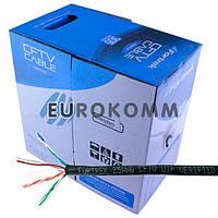 """Интернет кабель """"Витая Пара"""" Кабель UTP cat.5e CCA Fortrek 4x2x0.45 черный 305м"""