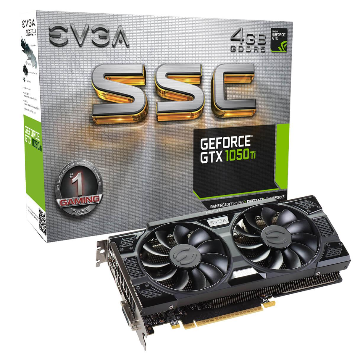 """Видеокарта EVGA GTX 1050 Ti SSC GAMING ACX 3.0 """"Over-Stock"""""""