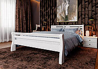 Кровать деревянная Ретро из натурального дерева двуспальная, фото 1