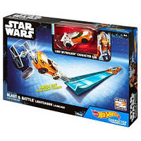 Hot Wheels Star Wars Lightsaber Blast & Battle Luke Skywalker / Трек Хот Вилс серии Star Wars Мощный удар