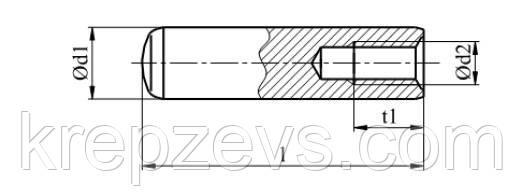 схема штифта DIN 7979D