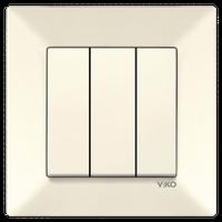 Выключатель 3-клав. VIKO Meridian крем