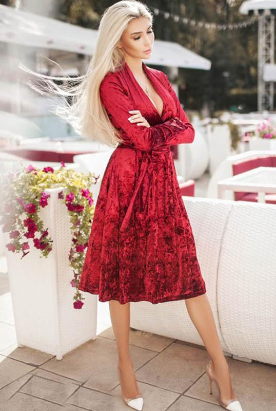Нарядное платье  -ДАНИЭЛЛА- бордовый