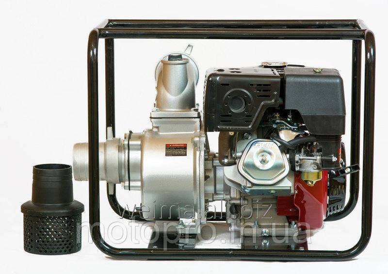 Дизельная помпа Weima  WM CGZ 100-30 двигатель WM188FВ, 12л.с.  Патрубок 100мм,  120куб/час