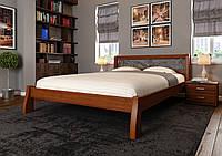 Кровать деревянная Ретро с ковкой из натурального дерева двуспальная, фото 1