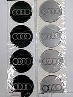 Силиконовые наклейки на диски и колпаки AUDI