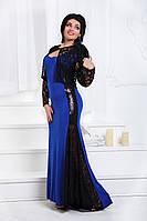 Д0601 Вечернее платье с болеро Синий