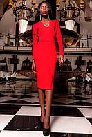 Женское новогоднее платье Хансити красное