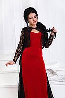 Д0601 Вечернее платье с болеро  Вишневый