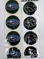 Силиконовые наклейки на диски и колпаки subaru
