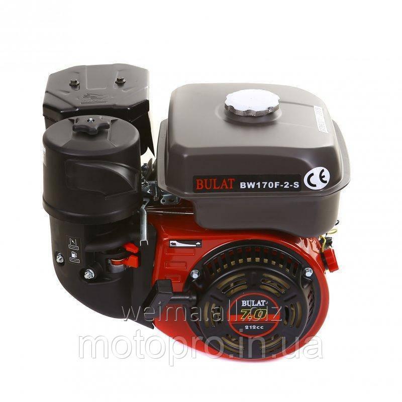 Двигатель бензиновый BULAT BW170F-Q ШПОНКА, ВАЛ 19 ММ, 7 л.с.