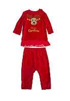 Детский новогодний костюм, велюровый, велюровый костюм для девочки Merry Christmas