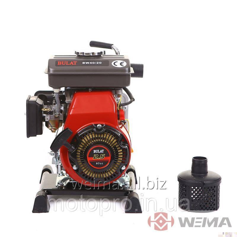 Мотопомпа BULAT BW40-20 (40 мм, 27 куб.м/час)