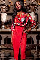 Женская блуза-рубашка Сальвини красного цвета