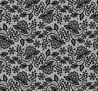 Фольга переводная 50 см, мелкое черное кружево