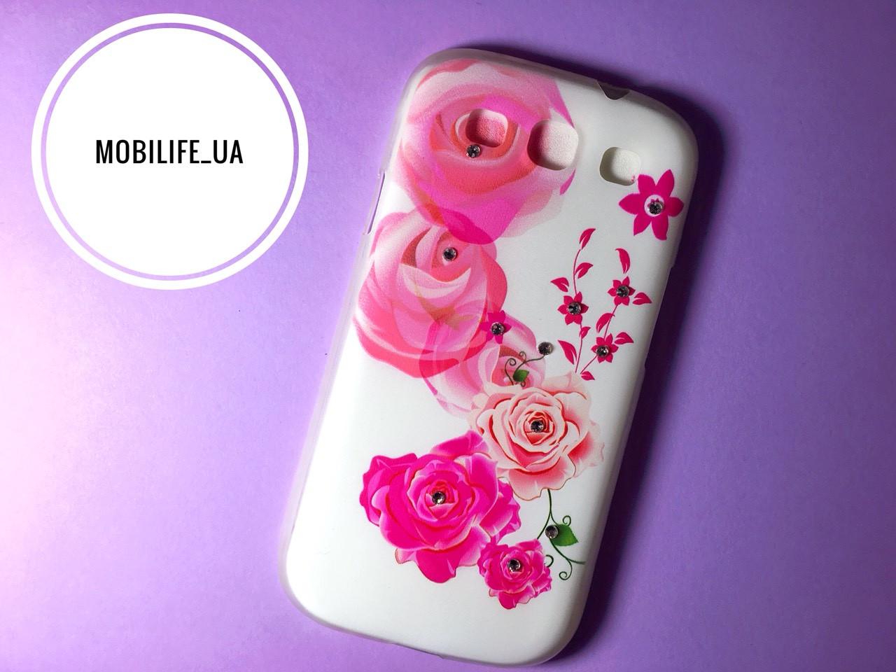 Чехол Samsung S3 i9300 Цветы/Силиконовый Чехол/