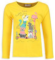Реглан для девочки LC Waikiki/ ЛС Вайкики желтого цвета с котиками
