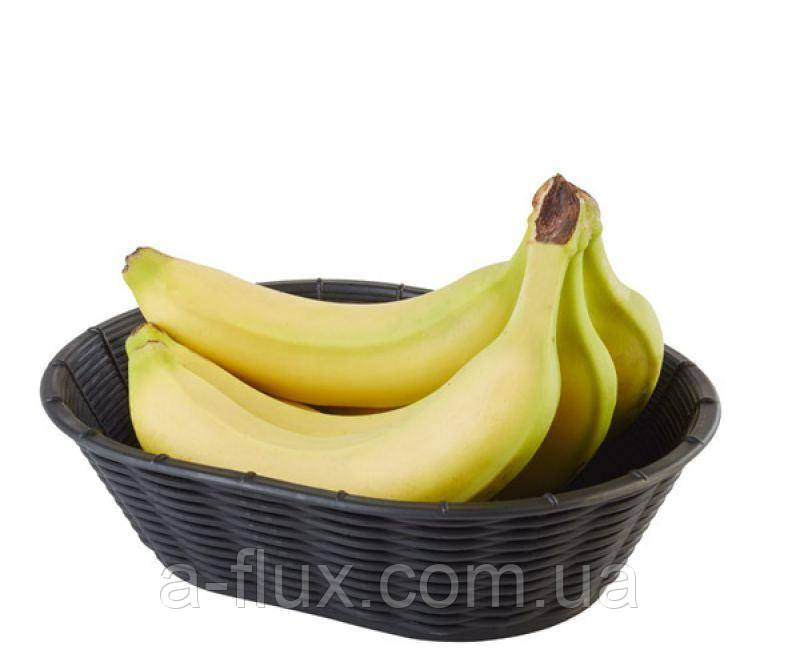 Корзинка для хлеба или фруктов черная APS 230х170х65 мм 40216