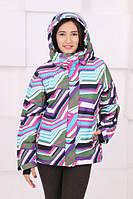 Горнолыжная куртка. Лыжная зимняя непромокаемая женская куртка