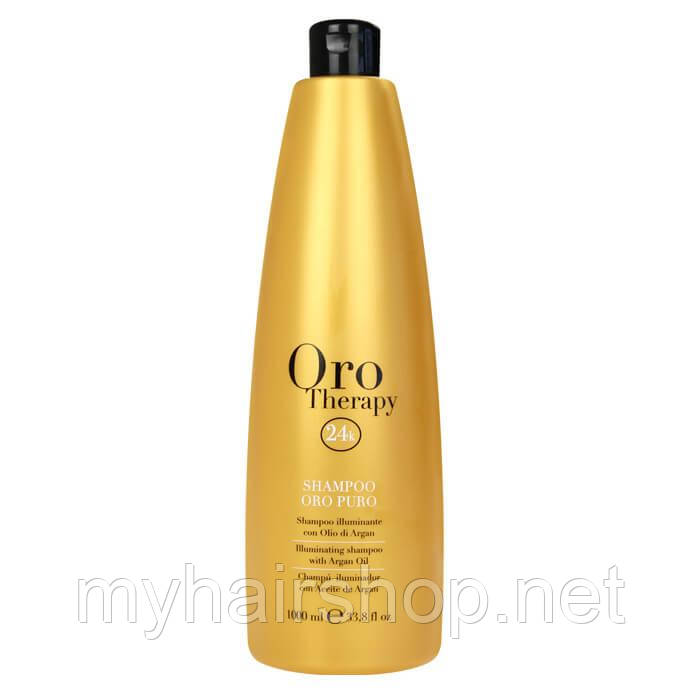 Зволожуючий шампунь з золотом FANOLA Oro Therapy Shampoo 1000 мл