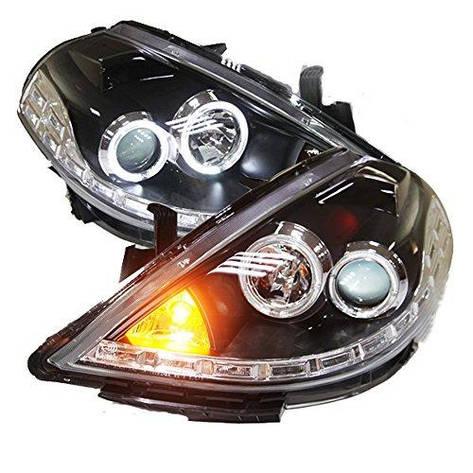 Штатна LED головна оптика Angel Eyes 2008 по 2010 рік LD для Nissan Tiida, фото 2
