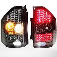 Штатная 2003 по 2008 год для Mitsubishi Pajero V73 LED задняя оптика дымчатый черный цвет