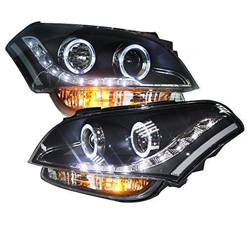 Штатна для KIA Soul головна оптика з LED ангельськими очками 2008 по 2013 рік LD