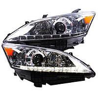 Штатная 2007 по 2012 год для Lexus ES350 EX350 LED головная оптика серебристый  ободок YZ