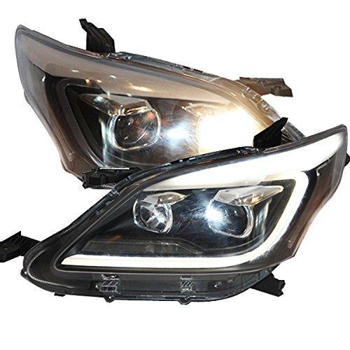 Штатная для TOYOTA Innova передние фары с LED полосой головная оптика 2012 по 2015 год YZ