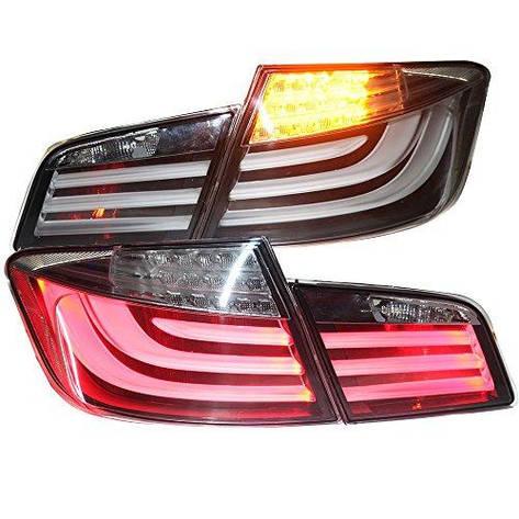 Штатная для BMW F10 F18 520 525 530 535i задняя оптика с LED полосой 2010 по 2013 год серебристый DB, фото 2